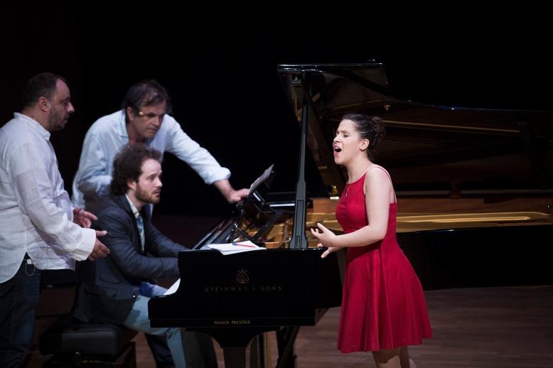 Masterclass Schubert de Matthias Goerne, Baryton (Allemagne) et Markus Hinterhäusser, pianiste (Autriche) dans le cadre de l'Académie Européenne de Musique du Festival d'Aix-en-Provence le 12 juillet 2014 à l'auditorium du conservatoire Darius M